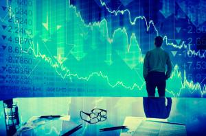 Businessman Stock Market Crisis Crash Finance Concept