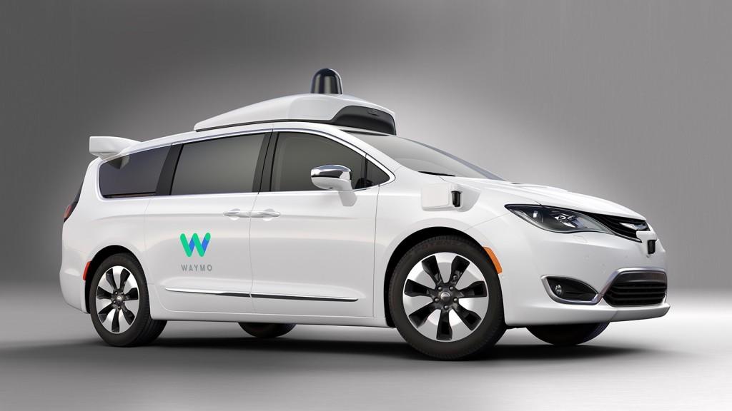 Waymo's fully self-driving Chrysler Pacifica Hybrid minivans.
