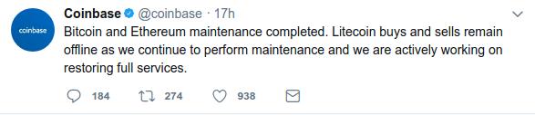coinbase tweet